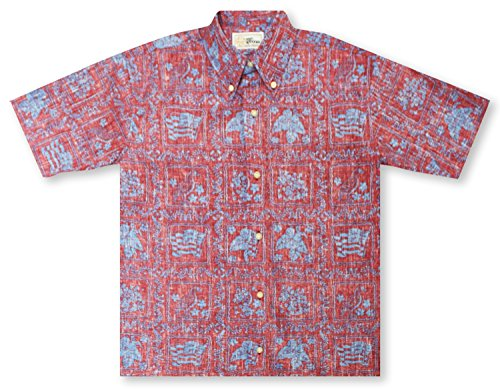 [해외]Reyn Spooner 남성 스푸너 Kloth Classic Fit Button 프론트 하와이안 셔츠 Heritage/Reyn Spooner Men`s Spooner Kloth Classic Fit Button Front Hawaiian Shirt Heritage