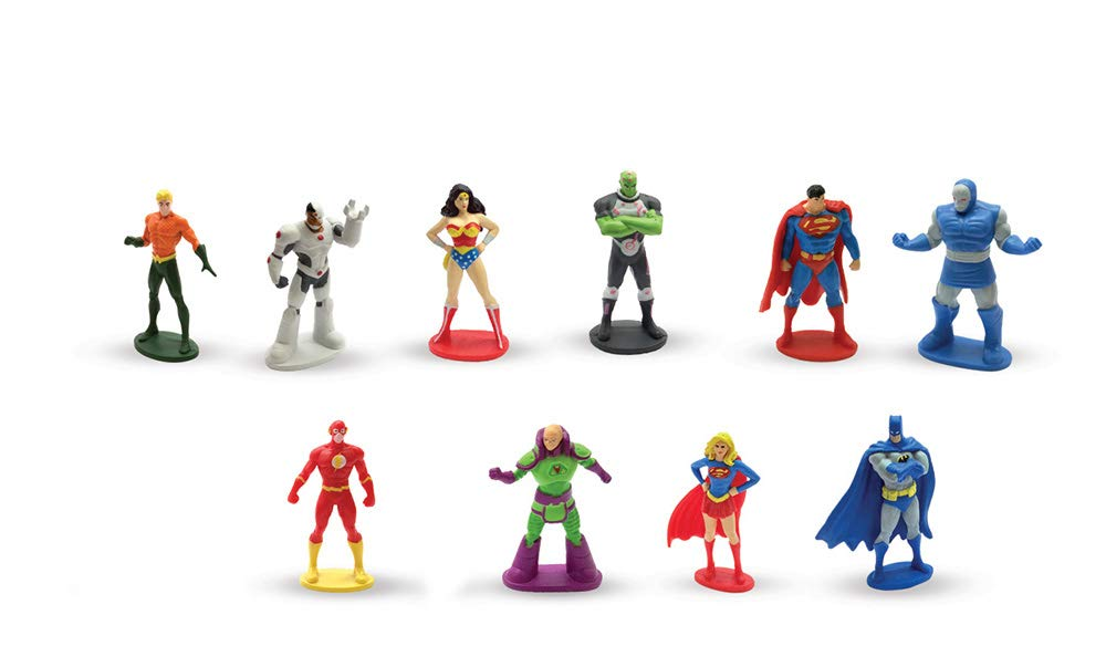 La Ligue Des Justiciers Comptines Et Figurines Tapis De Jeu Coffret Livre Avec 12 Figurines