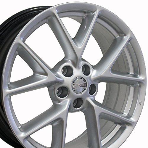 19x8 Wheel Fits Nissan, Infiniti - Nissan Maxima Style Hyper Silver Rim, Hollander 62512 (Hyper Silver Wheel)
