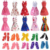 Clothes for Doll, 10 Pieces Party Gown Outfits with 10...