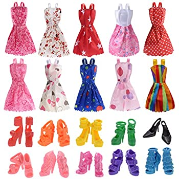 Amazon.com: SOTOGO 106 Pcs Barbie Doll Clothes Set Include 15 Pack ...