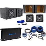 2) Kicker L7S122 12 Solobaric L7S Car Subs+Vented Box+1500W Amplifier+Amp Kit