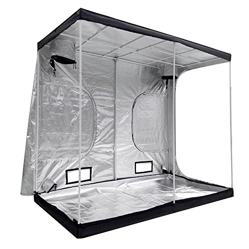 "51STNeTPQDL - LAGarden 96x48x78"" Hydroponics Grow Tent 100% Reflective Diamond Mylar Indoor Plant Growing Non Toxic Room w/ Window"
