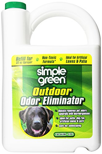 SIMPLE GREEN 432108 Outdoor Odor Eliminator for Dogs, 1 Gallon (Patio Grass And Brick)