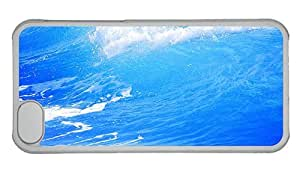 Hipster fashion iPhone 5C cover Sea Waves PC Transparent for Apple iPhone 5C
