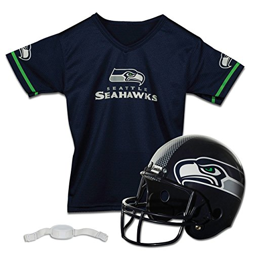 Franklin Sports NFL Seattle Seahawks Replica Youth Helmet and Jersey Set ()