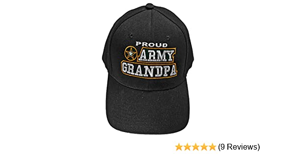 074d5cd4585 ... closeout amazon proud army grandpa baseball cap black u.s. army star hat  grandfather clothing 0ba52 c3e41