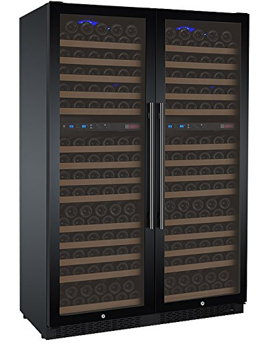 Allavino FlexCount 2X-VSWR172-2BWT 344 Bottle Multi-Zone Wine Refrigerators - Side-by-Side - Black