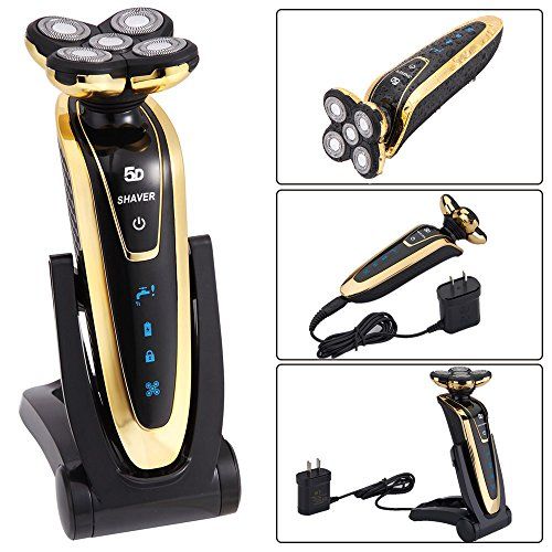 Hair Salon New Rechargeable Deluxe Rotary Men's 5D Washable Cordless Electric Shaver Razor
