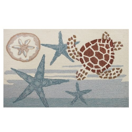 Price comparison product image Homefires Accents Coastal Turtle Indoor Rug, 22 by 34-Inch