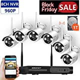 [Expandable System]Wireless Security Camera System,SMONET 8CH 960P Wireless Video Security System with 1TB HDD,6pcs 960P Indoor/Outdoor Wireless IP Cameras,65ft Night Vision,Plug&Play,Easy Remote View