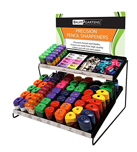 Baumgartens Retail Display Kit #2 Pencil Sharpener Assorted Colors (15509) by Baumgartens