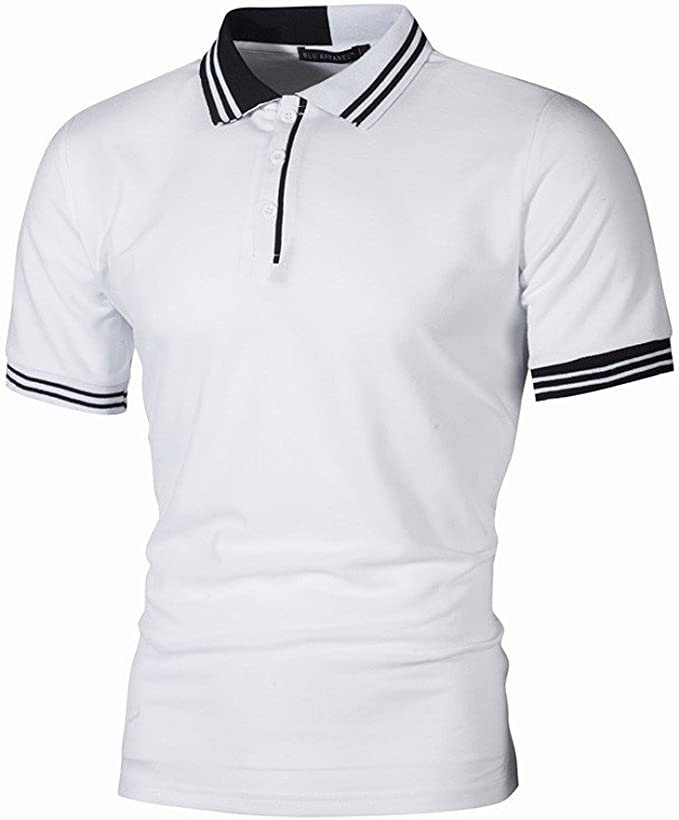 manadlian T Shirt Hommes Polo Homme Manches