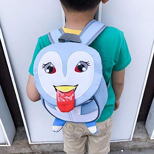 Children Backpack, Kids Baby Girls Boys Cute Cartoon Animal Backpack Toddler School Bag Rucksack (Penguin)