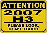 hummer h3 dog - Personalized Parking Signs 2007 07 HUMMER H3 Please Look Don't Touch Aluminum Caution Sign - 12 x 16 Inches
