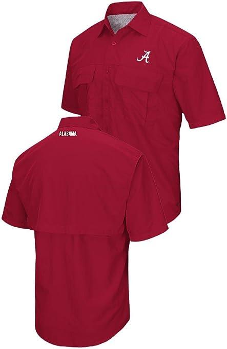 Para hombre Alabama Crimson Tide sintético nailon campamento camisa, rojo, Carmesí: Amazon.es: Deportes y aire libre