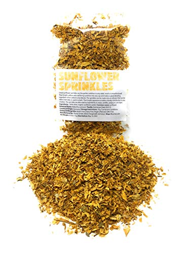 Dried, organic Sunflower Sprinkles from Germany | Net Weight: 0.52oz / 15g | Perfect addition to any salad, snack or smoothie bowl - Sprinkles for ingredients in soaps, candles & potpourri