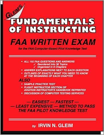 Amazon fundamentals of instructing faa written exam amazon fundamentals of instructing faa written exam 9781581941296 irvin n gleim books fandeluxe Images