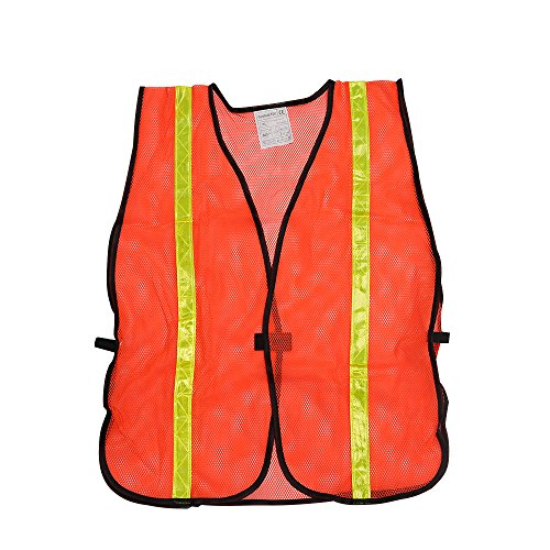 High Visibility Safety Vests 10 Packs,Adjustable Size,Lightweight Mesh Fabric, Wholesale Reflective Vest for Outdoor Works, Cycling, Jogging, Walking,Sports - Fits for Men and Women (Neon Orange) by zojo (Image #3)