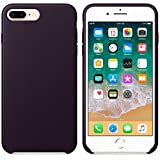 AIMTOPPY Ultra-Thin Leather Soft Protective Case Cover For iPhone 8/7 plus 5.5inch (free, Purple)