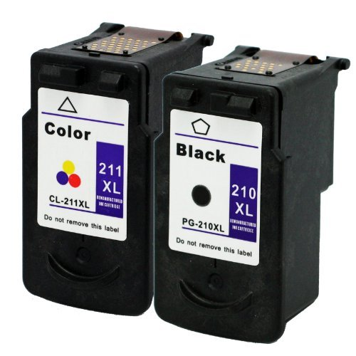 Remanufactured Ink Cartridge Replacement for Canon PG-210XL CL-211XL 2973B001 2975B001 (1 Black 1 Color) 2 Pack