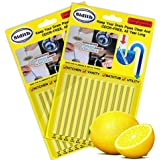 Sidith Drain Cleaner Sticks, Sink Deodorizer (24 Pcs), Sink Freshener to Keep Odor Free As Seen On TV for Bathroom, Kitchen, Toilet, Shower drain (Lemon)