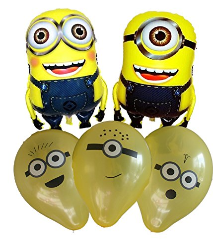 [Despicable Me Happy Birthday Balloon Minion Inspired Decoration Kevin Stuart Balloon Kit] (Grus Dog Costume)