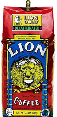 Lion Coffee Lion Gold Decaffeinated Whole Bean 24 Oz. Bag