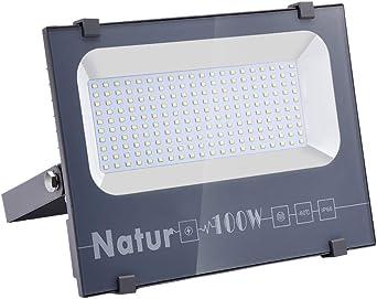 100W Foco led exterior,Led Proyector para Exterior Iluminación Decoración alto brillo 10000LM IP66,6000K,luz led para Jardín, Garaje, Bodega y Patio [Clase de eficiencia energética A++]: Amazon.es: Iluminación