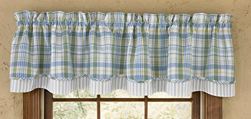 Park Designs Sarasota Lined Layer Valance, 72 by 16