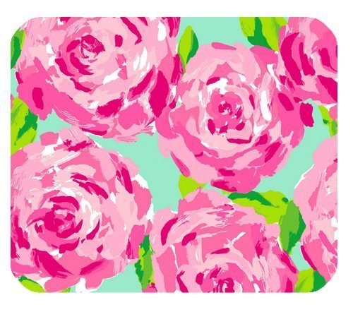 Price comparison product image Lilly Pulitzer Pink Prints Flower Customized Rectangle Mousepad