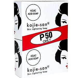 2 Bars Kojie San Kojic Acid Soap 65g per bar original kojie san bleaching soap for dark skin and lightening and brightness by BEVI
