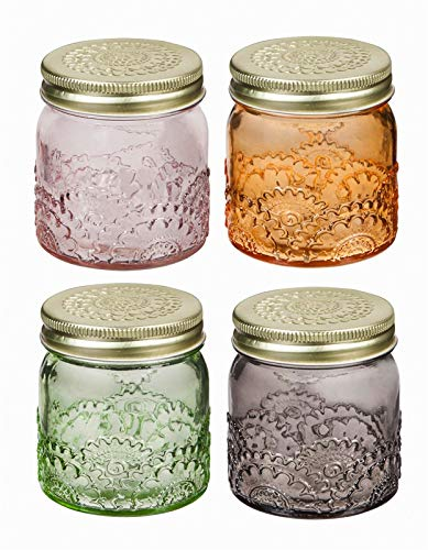 Cypress Home Colored Glass Decorative Jars Set Of 4