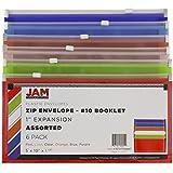 JAM PAPER Plastic Envelopes with Zip Closure - #10