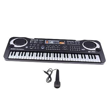 Baoblaze Juguete Educativo Piano Portátil para Niños, 61 Teclas de Teclado de Órgano Electrónico con Micrófono, Regalo para Niños: Amazon.es: Juguetes y ...