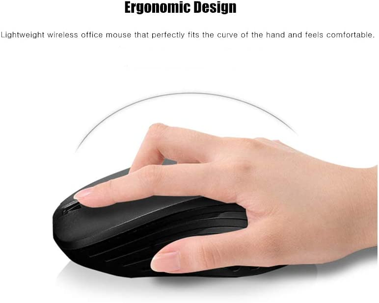 2.4G Wireless Mouse MacBook Computer Portable Optical Mice with USB Receiver for Notebook Laptop PC