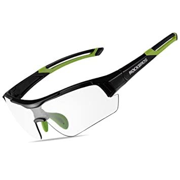 fae3df5aee RockBros Unisex Photochromic Cycling Sunglasses UV Protection for Outdoor  Sports