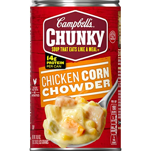 Campbell's Chunky Chicken Corn Chowder Soup,  18.8 oz. Can (Potato And Corn Chowder)