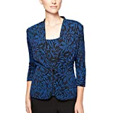 Alex Evenings Printed Twinset with Tank Top and Jacket