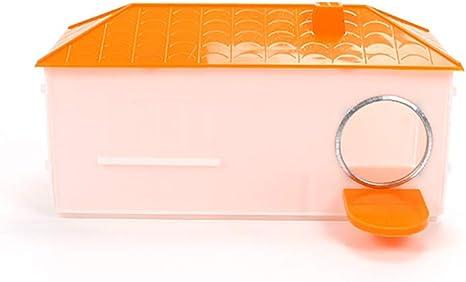 CWZJ Pequeña Jaula de plástico de la casa de cría de la Caja Nido para pájaro Loro Cockatiel pájaro pequeño,Orange: Amazon.es: Deportes y aire libre