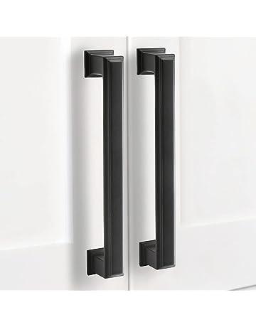 CINVEED Cabinet Handles 10pcs Bow Shape Drawer Handles Black Kitchen Cupboard Handles Door Drawer Handles Black Bathroom Handles with Screws for Cabinet Wardrobe Drawer Bedroom Door Decor
