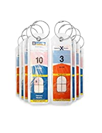 Cruise Luggage Tag Holders NEW 8 Pc for Royal Caribbean & Celebrity Ships (8, Clear)