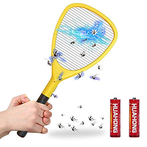 Wellgoo Large Electric Fly Swatter Bug Zapper, High Voltage Handheld Mosquito Killer, Fruit Fly, Insect Trap Racket for Indoor and Outdoor Control (2 ...