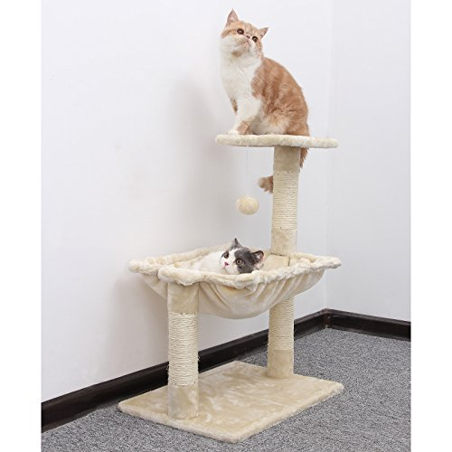 Amazon.com : feandrea Cats Climb Tree Steady Cat Tree with Plush and Soft Hammock PCT82M : Pet Supplies