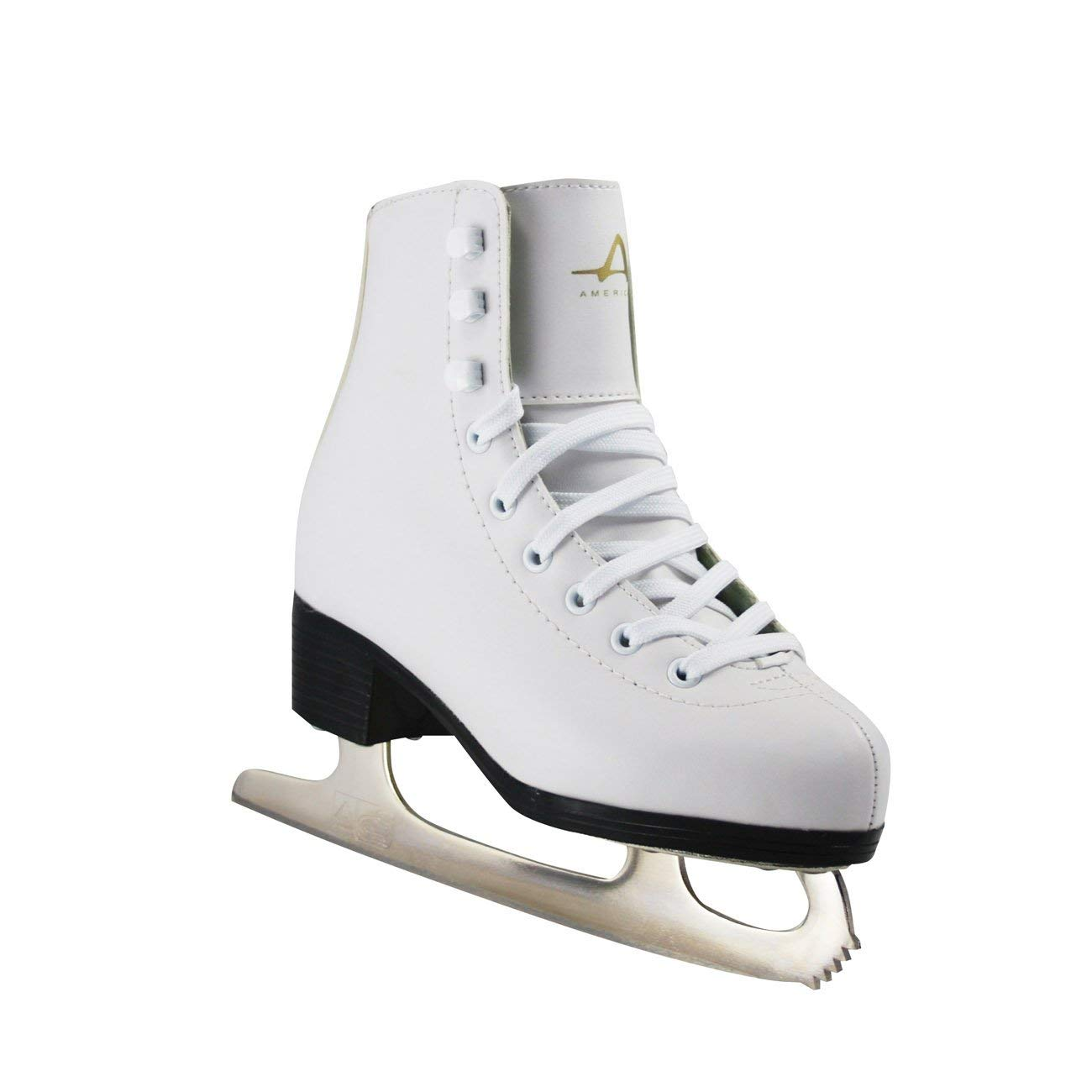 American Athletic Shoe Girls Tricot Lined Ice Skates Renewed