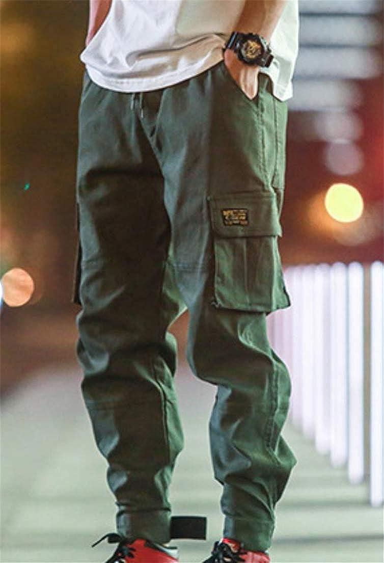 XTX Mens Joggers Trousers Multi-Pocket Stylish Cargo Mid Rise Pants
