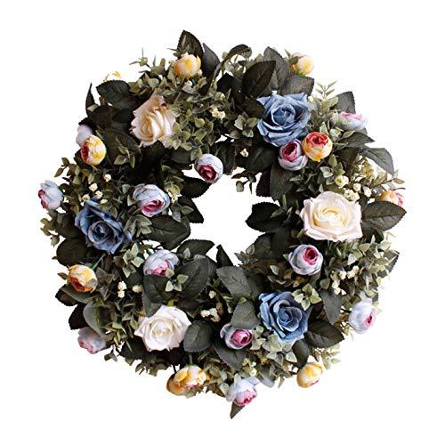 Evoio Artificial Flower Wreath, 17.7
