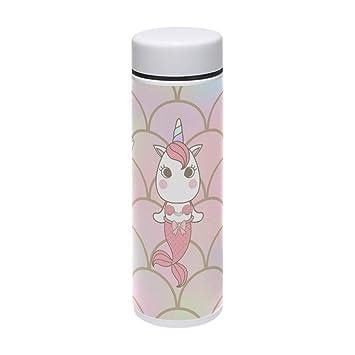 Naanle - Botella de Agua con diseño de Unicornio y Sirena ...