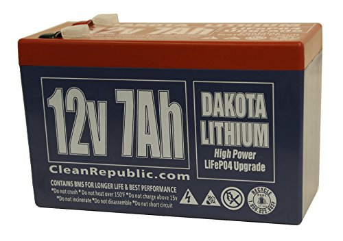 12 Volt Rechargeable Lithium Battery - 12 V 7 Ah - LiFEPO4