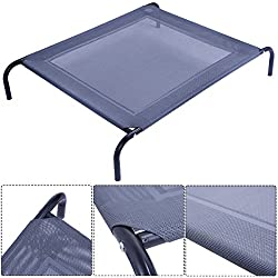 FClearup1991 New Large Dog Cat Bed Elevated Pet Cot Indoor Outdoor Camping Steel Frame Mat
